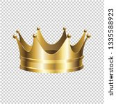 golden crown isolated... | Shutterstock .eps vector #1335588923