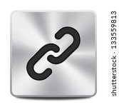 vector metal hyperlink icon  ... | Shutterstock .eps vector #133559813