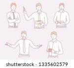 business man illustration in... | Shutterstock .eps vector #1335602579