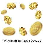 illustration flying dollar... | Shutterstock . vector #1335604283