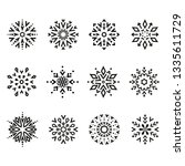 snowflakes black icon... | Shutterstock . vector #1335611729