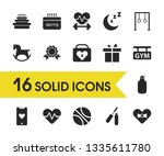 lifestyle icons set with ring...