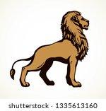 beautiful big african proud...   Shutterstock .eps vector #1335613160