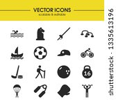 activity icons set with soccer... | Shutterstock .eps vector #1335613196