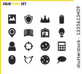 mixed icons set with flat  bulb ...