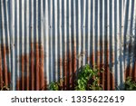 galvanized fence has been used... | Shutterstock . vector #1335622619