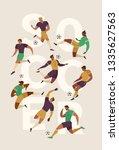 football soccer player set of... | Shutterstock .eps vector #1335627563