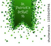 saint patrick's day frame with... | Shutterstock . vector #1335643946