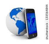 phone on white background.... | Shutterstock . vector #133564844