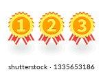 gold medal icon. vector... | Shutterstock .eps vector #1335653186