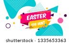 happy easter yellow blue... | Shutterstock .eps vector #1335653363