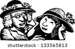 black and white vector... | Shutterstock .eps vector #133565813