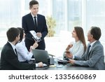 employee of the company... | Shutterstock . vector #1335660869