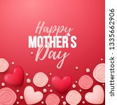 happy mothers day background... | Shutterstock .eps vector #1335662906