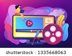 marketing strategist with...   Shutterstock .eps vector #1335668063