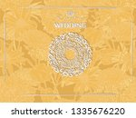 card with vintage frame on... | Shutterstock .eps vector #1335676220