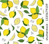 vector seamless pattern with... | Shutterstock .eps vector #1335679109