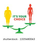 weight loss. the influence of... | Shutterstock .eps vector #1335680063