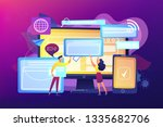 programmers with browser... | Shutterstock .eps vector #1335682706