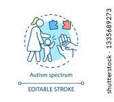 autism spectrum disorder... | Shutterstock .eps vector #1335689273