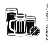 beer with foam isolated icon | Shutterstock .eps vector #1335697139