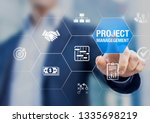 professional project manager... | Shutterstock . vector #1335698219