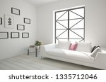 modern room with sofa table... | Shutterstock . vector #1335712046