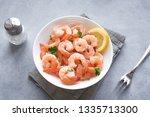 Shrimps  Prawns In Bowl. Fresh...