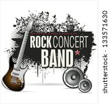 rock concert grunge banner | Shutterstock .eps vector #133571630