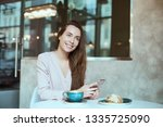 portrait of beautiful girl... | Shutterstock . vector #1335725090