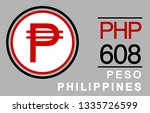 p  php  608  peso  philippines... | Shutterstock .eps vector #1335726599