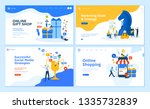 set of flat design web page... | Shutterstock .eps vector #1335732839