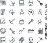 thin line icon set   hierarchy...   Shutterstock .eps vector #1335733139