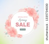 spring sale poster with... | Shutterstock .eps vector #1335734030