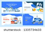 set of flat design web page... | Shutterstock .eps vector #1335734633