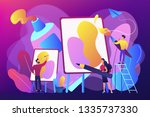 group of people practicing new... | Shutterstock .eps vector #1335737330