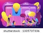 managers at workshop training... | Shutterstock .eps vector #1335737336