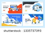 set of flat design web page... | Shutterstock .eps vector #1335737393