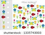 how many counting game with... | Shutterstock .eps vector #1335743003