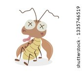 a seriously injured cockroach...   Shutterstock .eps vector #1335746519