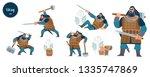 viking. strong dark viking... | Shutterstock .eps vector #1335747869