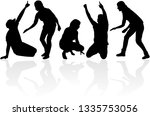 black people silhouettes. | Shutterstock .eps vector #1335753056