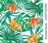 floral vector seamless pattern...   Shutterstock .eps vector #1335753590