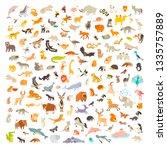mammals of the world. animals... | Shutterstock .eps vector #1335757889