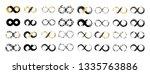 black and gold brush stroke... | Shutterstock .eps vector #1335763886