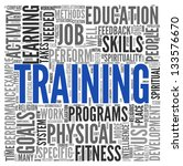 training and education related...   Shutterstock . vector #133576670
