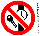 prohibition sign. black... | Shutterstock .eps vector #1335775676
