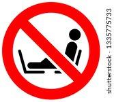 prohibition sign. black... | Shutterstock .eps vector #1335775733