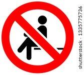 prohibition sign. black... | Shutterstock .eps vector #1335775736