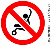 prohibition sign. black... | Shutterstock .eps vector #1335775739